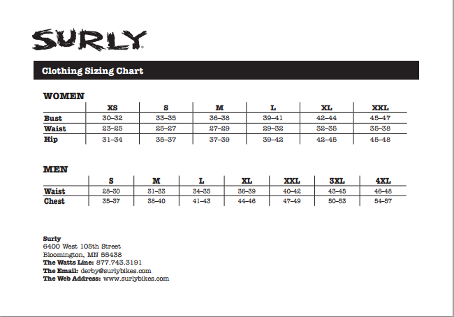 Tire Size Chart >> Surly Fat Bike Size Chart - Bicycling and the Best Bike Ideas