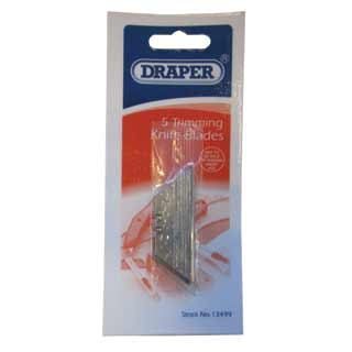 Draper Trimming Knife Spare Blades in packaging