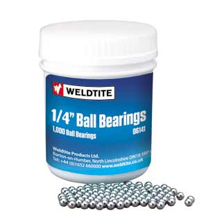 Weldtite Quarter Inch Ball Bearings