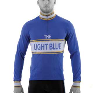 The Light Blue Vintage Long Sleeve Merino Wool Jersey
