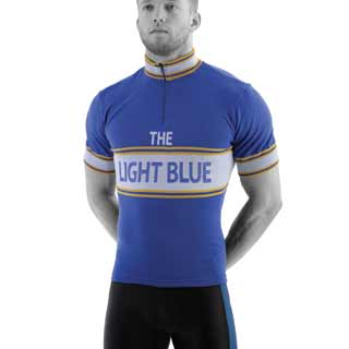 The Light Blue Vintage Short Sleeve Merino Wool Jersey
