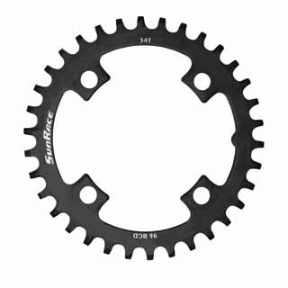 S-RACE MS00 STL NW C/RING 30T BLK