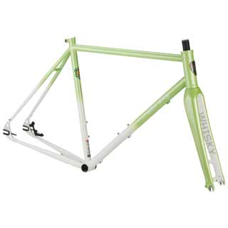 All-City Nature Boy 853 Disc Frame and Fork in green and white