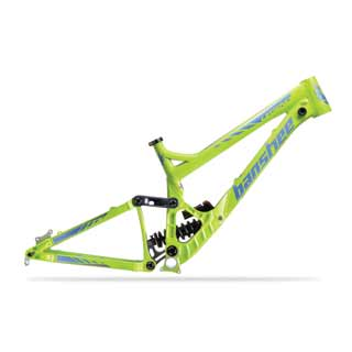 Banshee 2016 Legend frame in green