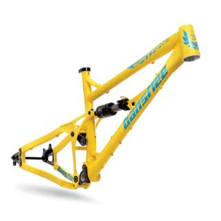 Banshee 2016 Spitfire frame in yellow