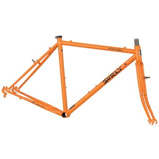 Surly Cross Check Frame and fork in Dream Tangerine
