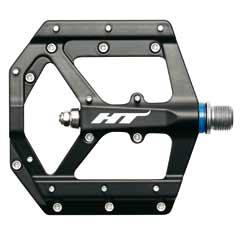 HT Components ME05 flat Magnesium alloy pedals in black