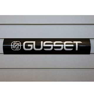 Gusset Slatwall Sign