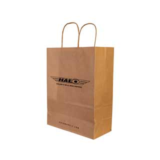 Halo Brown Paper Carrier Bag