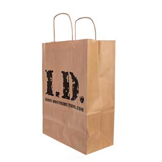 ID Brown Paper Carrier Bag