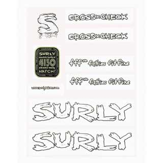 SURLY DECAL KIT 1X1 WHI