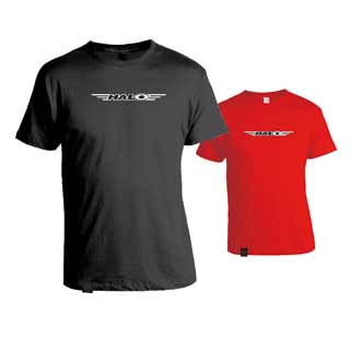 Halo logo T-shirt in black or red