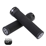 Gusset Soft Single File Lock-on Grips