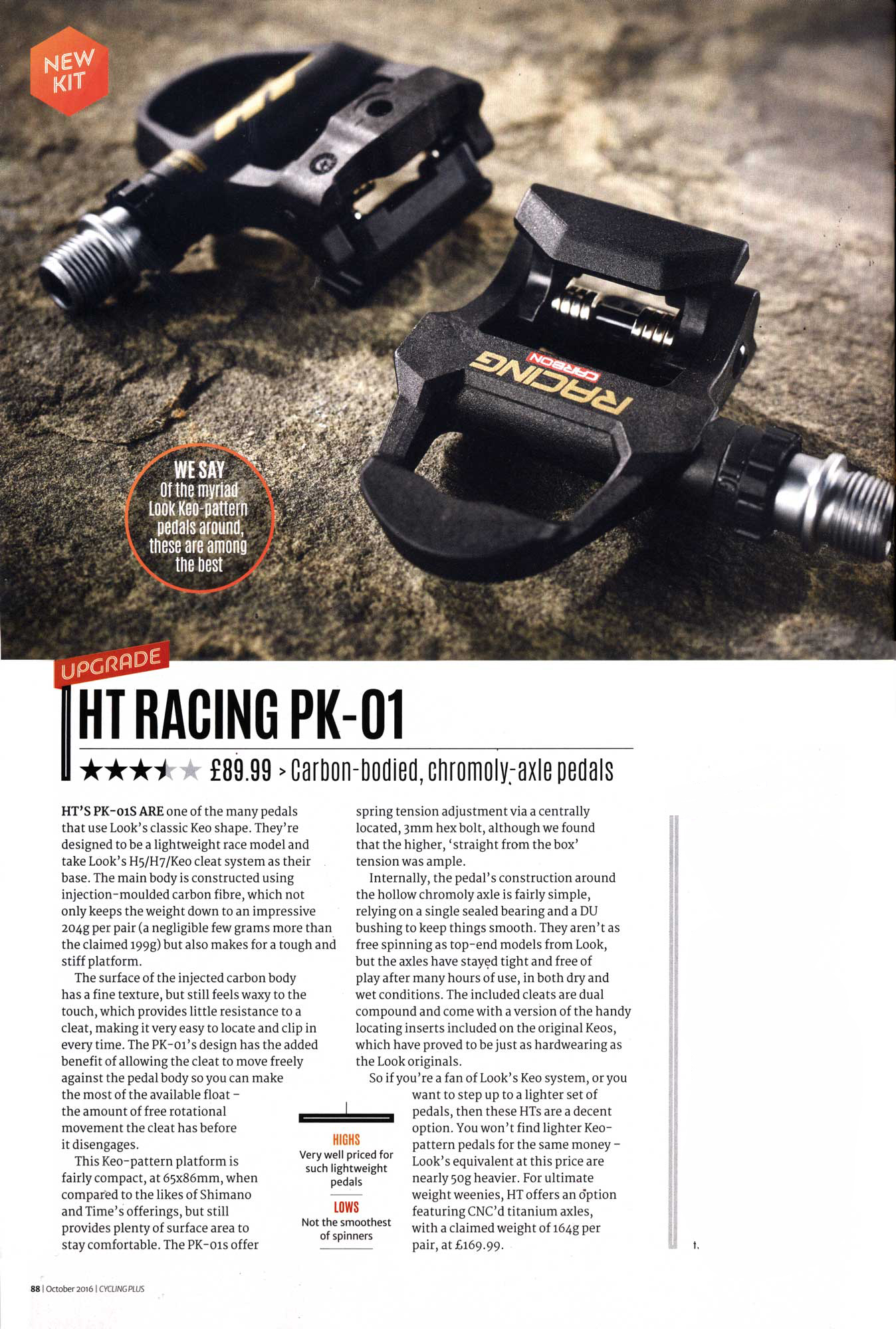 HT Road Pedals Cycling Plus Review