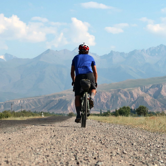 Markus Stitz bikepacking in Kyrgyzstan on his Surly Straggler