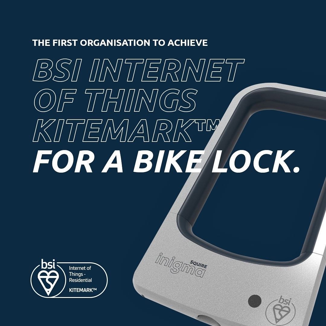 Squire achieves BSI IoT Kitemark for a bike lock