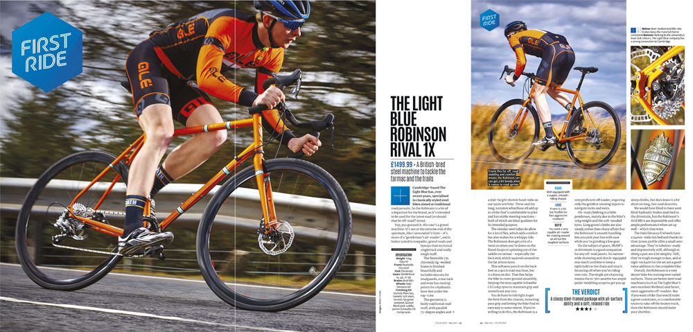Cycling Plus likes the Light Blue Robinson