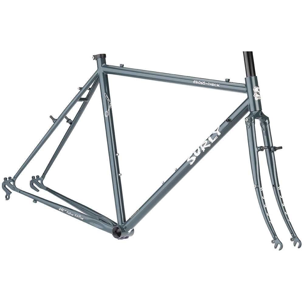 Surly Cross Check Frameset - Blue Green Grey