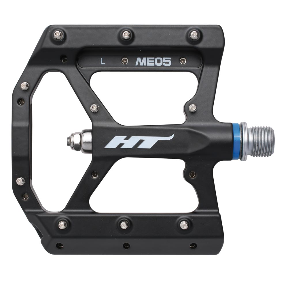HT Components ME05 magnesium flat pedals in black