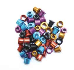 ID DBL C/RING BOLTS ALLOY BLK