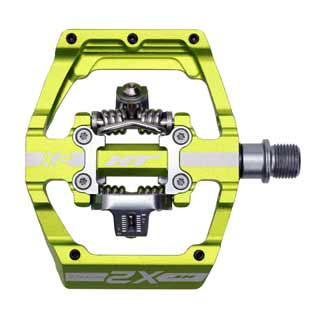 HT Components X2 pedal in green