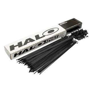 Halo Double Butted Black Spokes