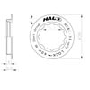 image of Halo MCRC Cassette Lockring Dimensions