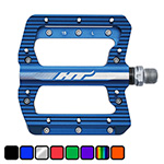 HT Components ANS01 flay alloy DH or freeride pedal in blue